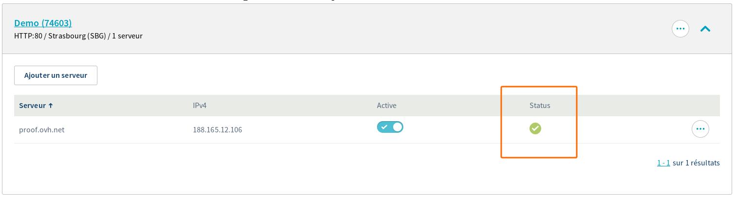 Result server health status via Manager