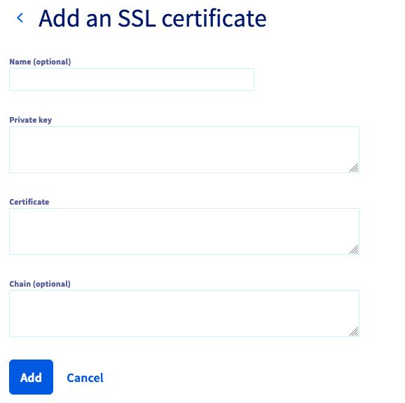 Adding an SSL Certificate