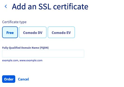 Ordering an SSL Certificate