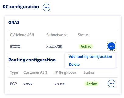 suppression configuration DC