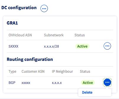 suppression configuration routage