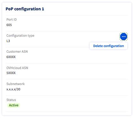 deleting PoP configuration