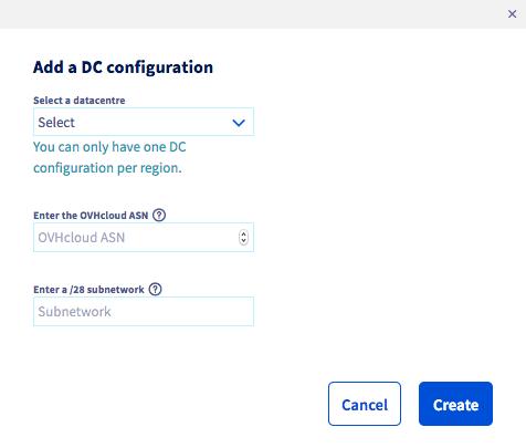 adding datacentre