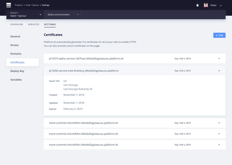 Management console configuration for TLS