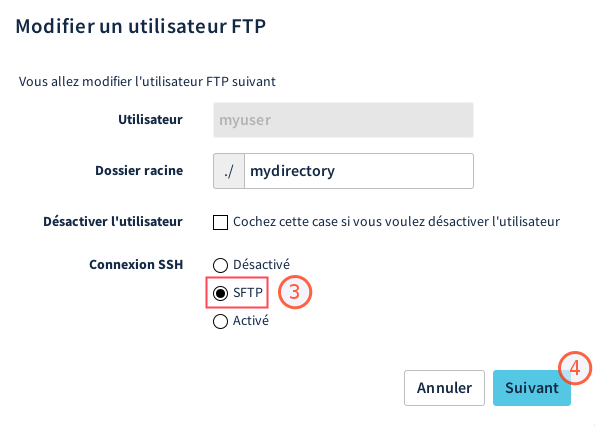 Activation SFTP 2