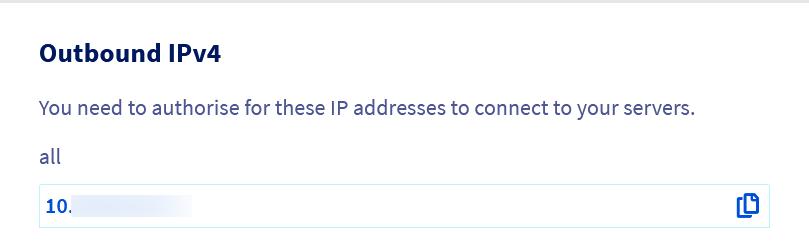 Adresse IPv4 de sortie de votre service OVH Load Balancer