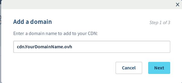 Ajouter un sous-domaine sur le CDN