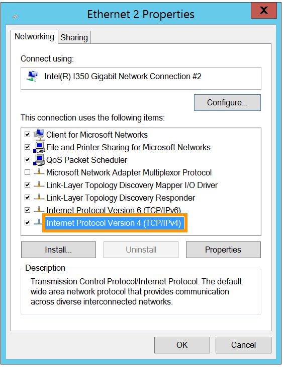 Internet Protocol Version 4 (TCP/IP/IPv4)