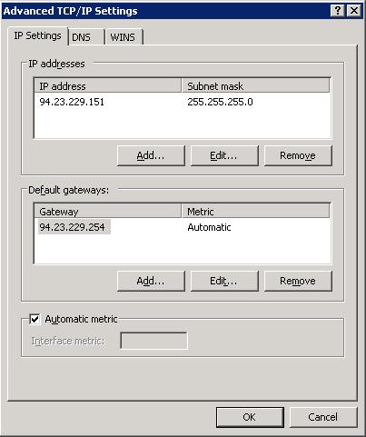 Opciones avanzadas TCP/IPv4