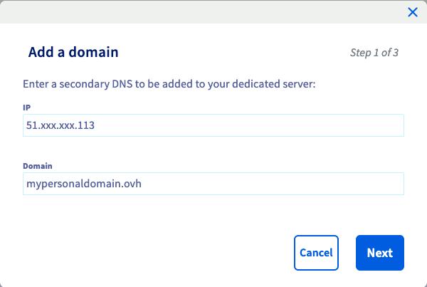DNS secondaire