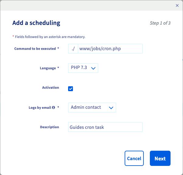 adding scheduling