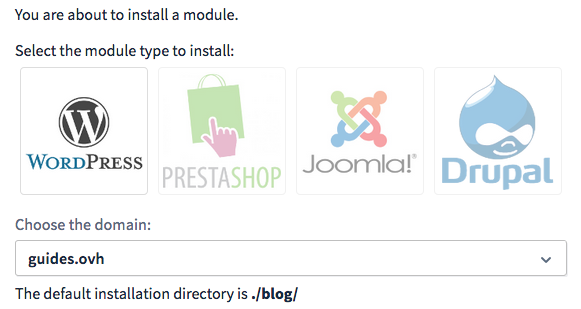Choose a module