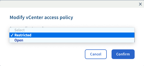 Setting access policy