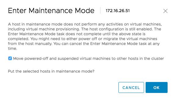 Confirmation du mode maintenance