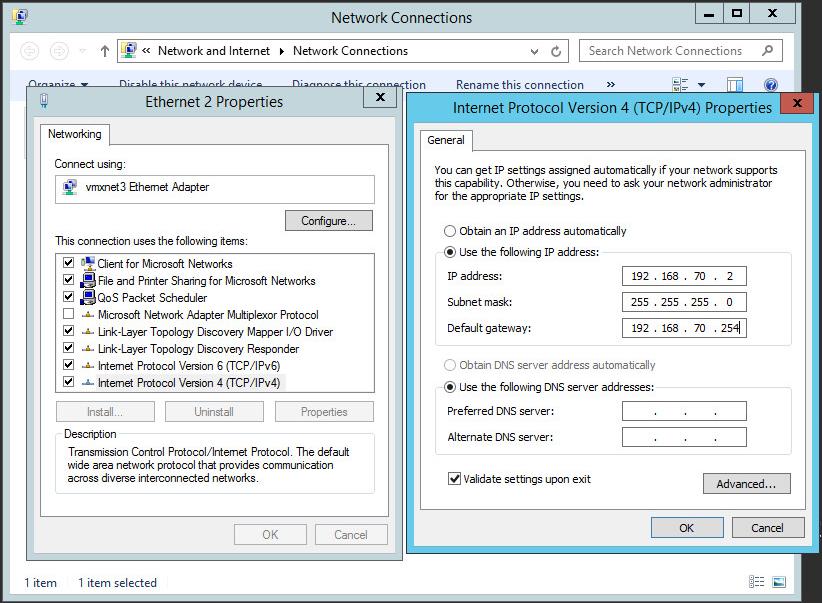Configuration Windows IP publique