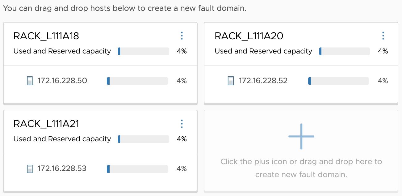 ajout multiples fault domains