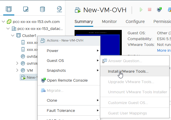 Install VMware tools | OVH Guides