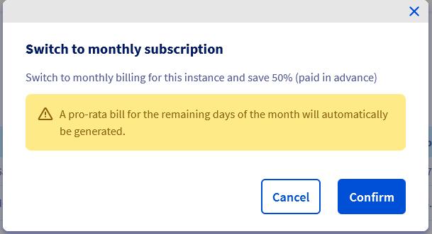 Confirm billing calculation change