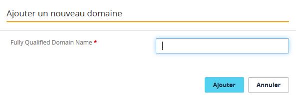 Ajouter un nom de domaine avancé