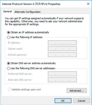 modifier la configuration IP