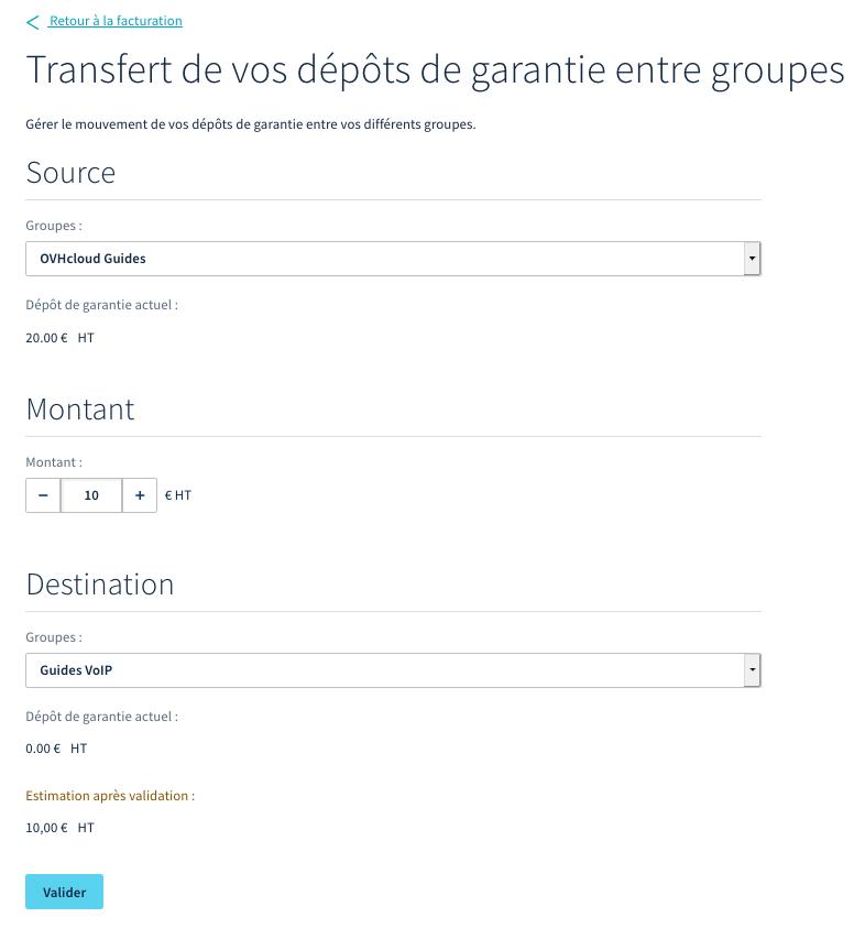 transfert depot de garantie