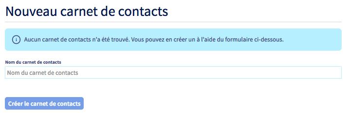 carnet de contacts