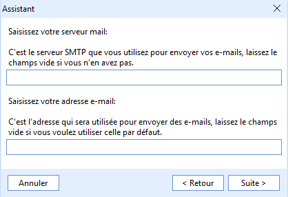 configuration - email