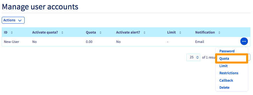 Añadir una cuota a un usuario API