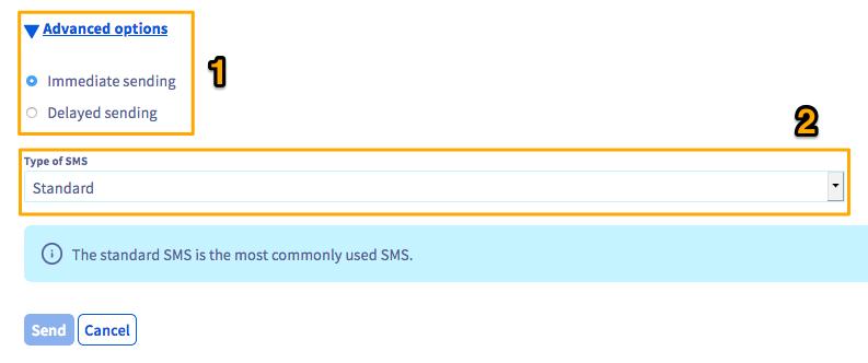 envoi sms manager