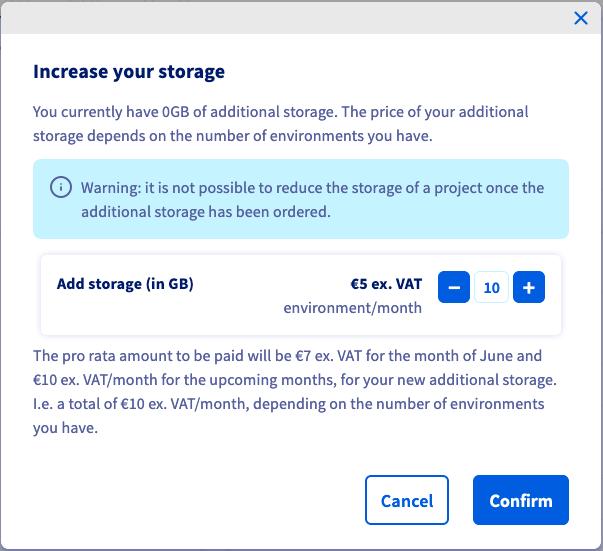Change storage