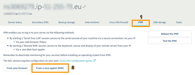 IPMI Java initiated