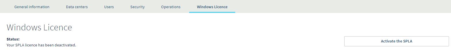Windows SPLA Licentie