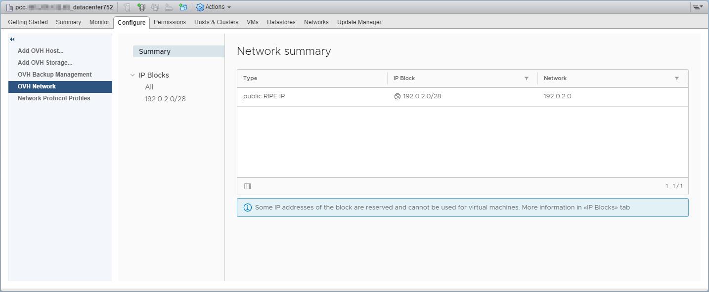 Informatie over IP's en blokken
